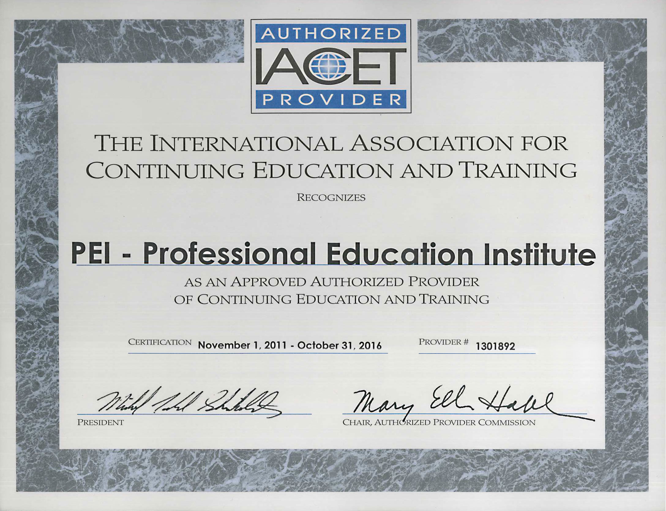 Education Professional Education Institute